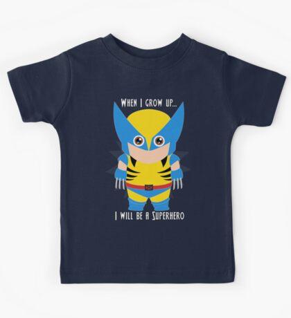When I grow up, I will be a superhero Kids Tee