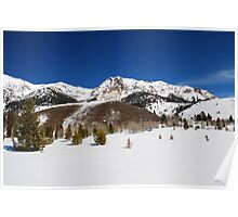 Winter View of the Boulder Mountains Poster