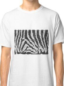 Black and White Zebra Binary Code Classic T-Shirt