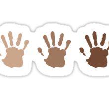 Hand colors Sticker