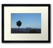 LA Skyline with Palm Tree Framed Print