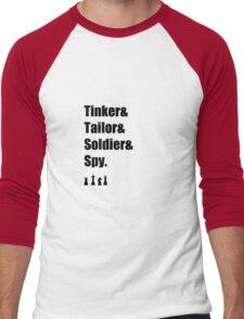 Tinker & Tailor & Soldier & Spy Men's Baseball ¾ T-Shirt