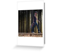 Walking on Walls Greeting Card