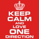 keep calm and love one direction by mrtdoank