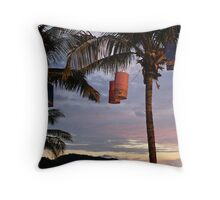 Patong Sunset Lanterns Throw Pillow