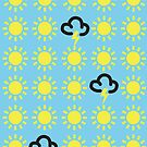 Weather pattern: Retro weather forecast symbols by redcow
