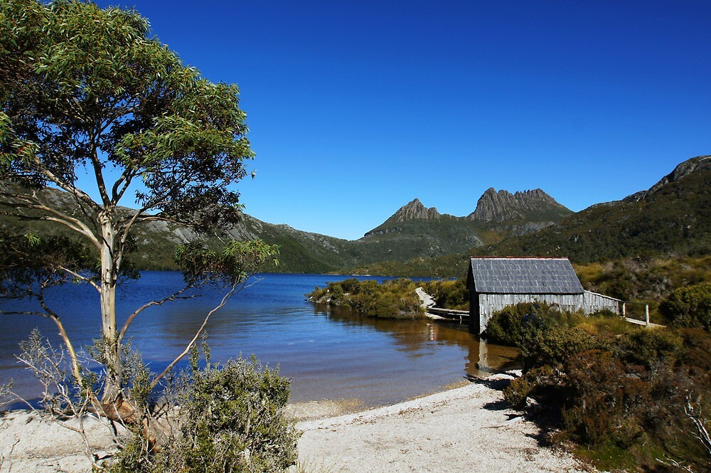 Beautiful Tasmania - the boat shed and Cradle Mountain by georgieboy98
