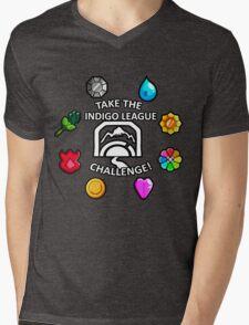 Indigo League Mens V-Neck T-Shirt