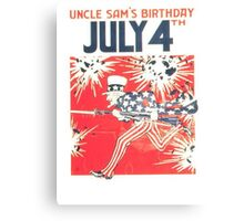 4th of July - Uncle Sam Canvas Print