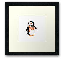 Babywearing Mama Penguin Framed Print