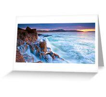Morning surf Greeting Card