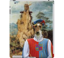 Wire Fox Terrier Art - Troubadour and windmill iPad Case/Skin