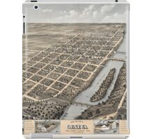 Panoramic Maps Bird's eye view of Geneva Kane County Illinois 1869 iPad Case/Skin