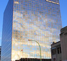 Reflections in Downtown Winnipeg by Carole-Anne
