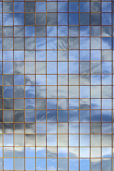 Blue & White In Windows by Carole-Anne