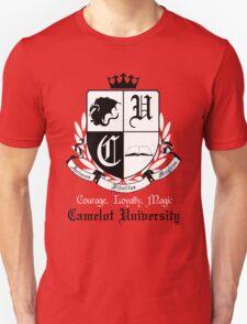 Camelot University (Big, B&W) Unisex T-Shirt