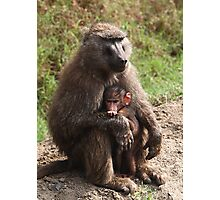 A Mother's Protection Photographic Print