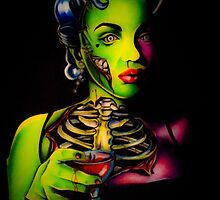 Zombie Horror Marilyn Blood Martini by Jennygauge
