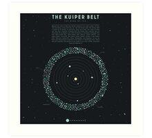 The Kuiper belt Art Print
