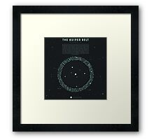 The Kuiper belt Framed Print