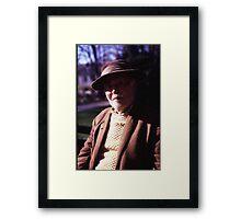 Old Man In Plaza Framed Print