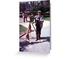 Photographer In Plaza Greeting Card