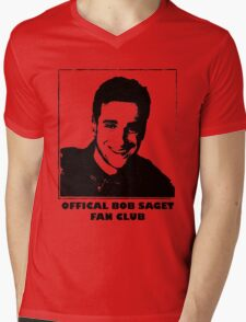 Official Bob Saget Fan Club Shirt Mens V-Neck T-Shirt
