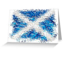 Scottish Saltire Flag Texture Design Greeting Card
