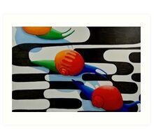 snails abstract Art Print