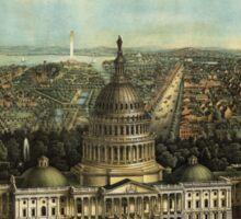 Panoramic Maps View of Washington City Sticker