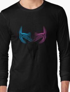 Deer skull Vector art digital deer 3d effect Sticker Long Sleeve T-Shirt