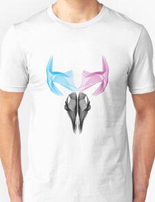 Deer skull Vector art digital deer 3d effect Sticker Unisex T-Shirt