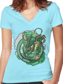 Clear The Atmosphere Women's Fitted V-Neck T-Shirt
