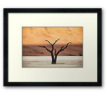 Sculpted Tree Framed Print