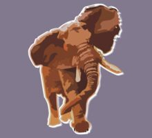 elephant t-shirt by parko