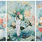 Harmony - Chinese Fan Dancers by scallyart