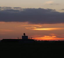 Sunset at Matching Airfield by Nigel Bangert