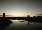 Sunset at Matching Airfield by Nigel Bangert