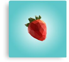 Polygon Strawberry Canvas Print