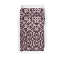Decorative Arabesque Pink and Black Duvet Cover