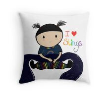I love slings! Throw Pillow