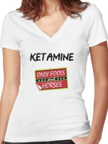 Ketamine - Only Fools and Horses Women's Fitted V-Neck T-Shirt