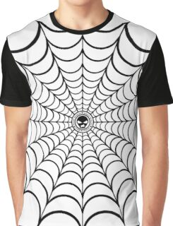 Spider Web Black and White Graphic T-Shirt