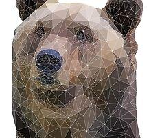 Polygon Bear Print by scarriebarrie