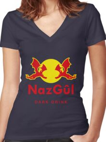 Dark drink Women's Fitted V-Neck T-Shirt