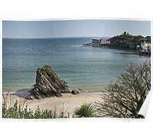 Goscar Rock North Beach Tenby Poster