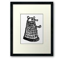 Dalek Sketch Framed Print