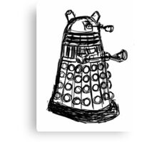 Dalek Sketch Canvas Print