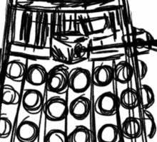Dalek Sketch Sticker