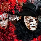 Venice - Carnival Mask 2012....02 - Couple in Red   by paolo1955
